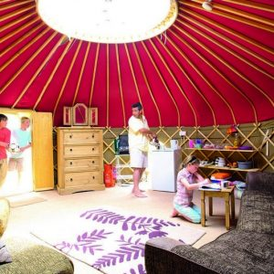 Glamping Yurts at Perran Sands, Cornwall
